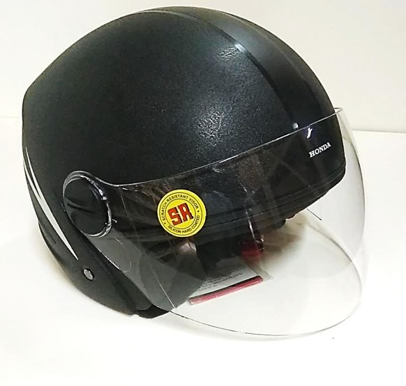 HELMET- HALF FACE LARGE (BASIC BLACK)